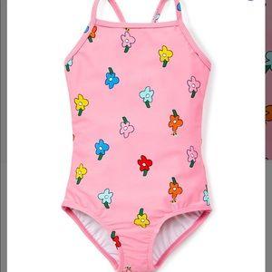Fresh Pink Sunblock One-Piece Swimsuit
